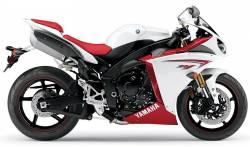 Yamaha R1 2009 RN22 14b white stickers