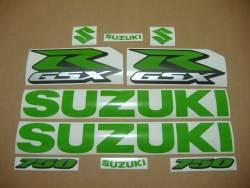 Suzuki GSXR 750 lime green customized adhesives