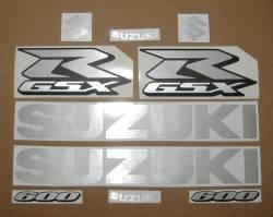 Suzuki GSXR Gixxer 600 inox silver decals