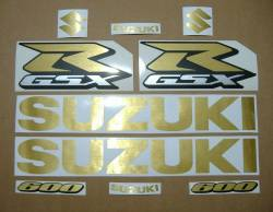 Suzuki GSXR 600 brushed gold customized adhesives