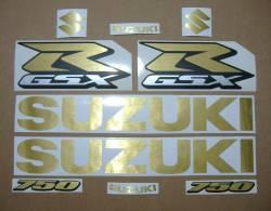 Suzuki Gixxer 750 brushed gold srad decal set