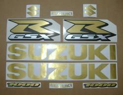 Suzuki GSXR 1000 brushed gold customized decals
