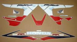 Honda CBR 929RR 2000 SC44 red blue adhesives