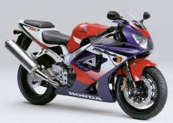 Honda Fireblade 900rr 2000 SC44 red blue stickers