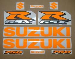 Suzuki Gixxer 750 neon fluorescent orange decals