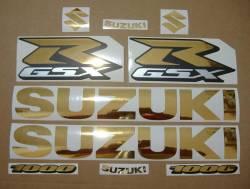 Suzuki Gixxer 1000 chrome gold decal set
