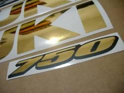 Suzuki GSX-R 750 chrome gold custom stickers