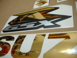 Suzuki Gixxer 750 chrome gold srad decal set