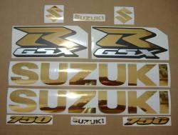Suzuki GSXR 750 chrome gold srad graphics