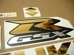 Suzuki GSXR 750 chrome gold customized decals