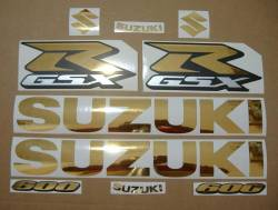 Suzuki GSX-R 600 chrome gold custom stickers