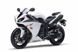 Yamaha YZF-R1 2010 RN22 white stickers set
