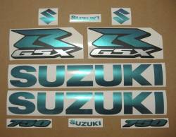 Suzuki GSX-R 750 color changeable decals kit