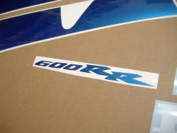Honda CBR 600RR 2003 custom blue decal set