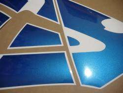 Honda CBR 600RR 2003 custom pearl blue graphics