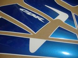 Honda CBR 600RR 2004 custom blue graphics set