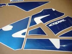 Honda CBR 600RR 2003 custom blue restoration stickers