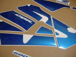 Honda CBR 600RR 2003 custom blue restoration decals