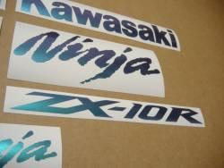 Kawasaki ZX10R Ninja color changeable logos decals
