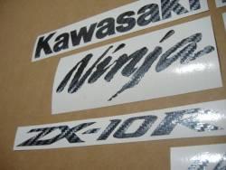Kawasaki ZX10R Ninja carbon fiber custom stickers