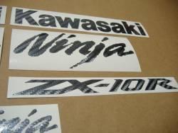 Kawasaki ZX10R Ninja carbon fiber logos decals