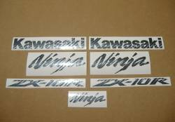 Kawasaki ZX-10R Ninja carbon fiber decals kit