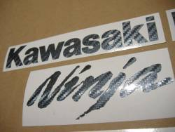 Kawasaki ZX10R Ninja carbon fiber decal set