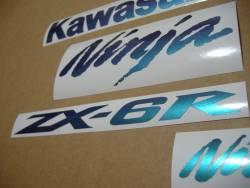 Kawasaki ZX6R Ninja chameleon decals set