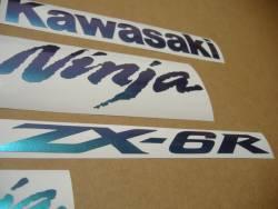 Kawasaki ZX6R Ninja color changeable stickers kit
