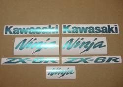 Kawasaki ZX6R chameleon custom graphics set