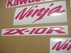 Kawasaki ZX10R Ninja hot pink custom graphics
