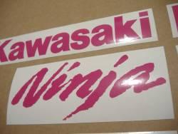 Kawasaki ZX10R Ninja hot pink logos decals