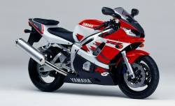 Yamaha R6 1999 5EB white full decals set