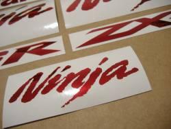 Kawasaki ZX10R Ninja chrome red custom stickers