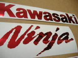 Kawasaki ZX-10R Ninja chrome red decals kit
