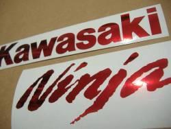Kawasaki ZX10R chrome bordeaux decal set