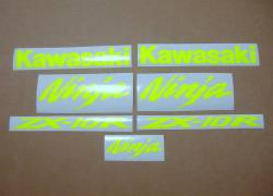 Kawasaki ZX10R Ninja fluorescent yellow graphics set