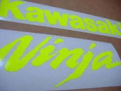 Kawasaki ZX10R neon signal yellow custom graphics