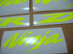 Kawasaki ZX10R neon fluorescent yellow decals  kit