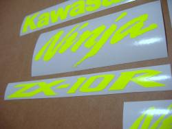 Kawasaki ZX-10R Ninja neon signal yellow decal set