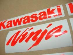 Kawasaki ZX10R Ninja neon red custom stickers