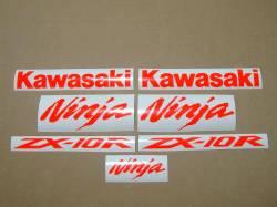 Kawasaki ZX10R fluorescent neon red decal set