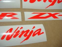 Kawasaki ZX10R signal red customized logo stickers
