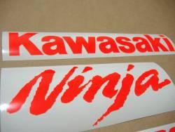 Kawasaki ZX-10R chrome fluorescent logos decals