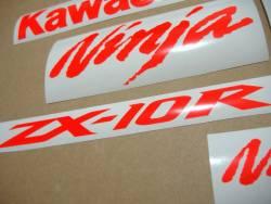 Kawasaki ZX-10R Ninja signal fluo red decals kit