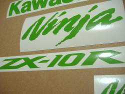 Kawasaki ZX10R Ninja lime green custom graphics