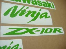 Kawasaki ZX-10R Ninja lime green stickers kit