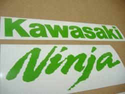 Kawasaki ZX-10R custom bright green decal set