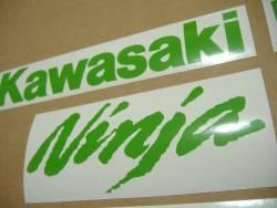 Kawasaki ZX10R Ninja bright green stickers kit