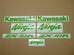 Kawasaki ZX10R custom lime green decal set